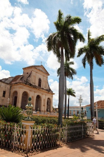 Holy Trinity Church in the historic town of Trinidad, Cuba : Stock Photo