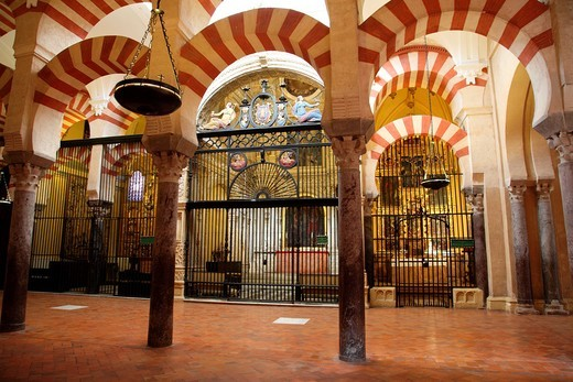 Stock Photo: 1566-790543 Columns Inside the Mosque of Cordoba, Spain