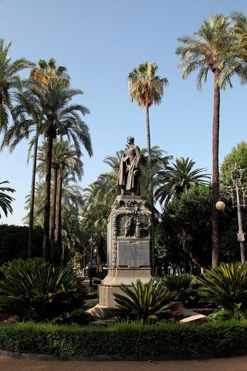 Monument to the Duke of Rivas, Cordoba, Andalusia, Spain : Stock Photo