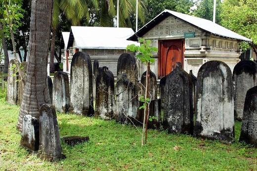 Stock Photo: 1566-790845 Cemetery of Personalities near Hukuru Miskiiy former Friday Mosque, Malé, Maldives