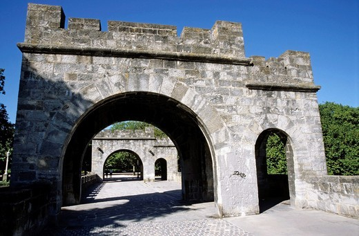 Main gate of the ramparts, Pamplona, Spain : Stock Photo