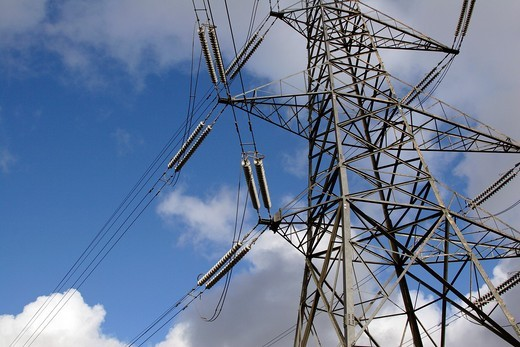 Telegraph pylon, England, UK : Stock Photo