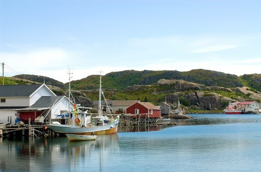 Stock Photo: 1566-794051 Fishing village of Napp at the Lofoten Island of Flagstadoy in Norway