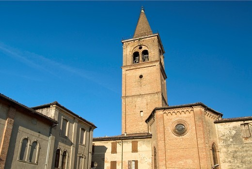 Stock Photo: 1566-794076 Church Chiesa San Michele Arcangelo in the historic town centre of Busseto, Italy