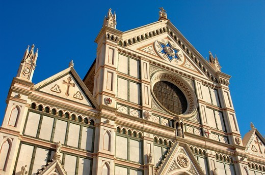 Stock Photo: 1566-795113 Basilica of Santa Croce, Florence, Tuscany, Italy