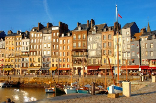 photo of Harbour side restauarant - La Bisquine  Honfleur, Normandy, France : Stock Photo