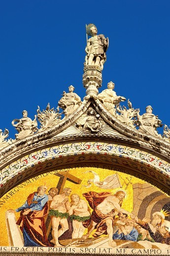 Stock Photo: 1566-795372 Front of Saint Marks Basilica - Venice - Italy