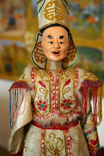 traditional Chinese puppet, Burattini, Palermo puppet Museum, Sicily : Stock Photo