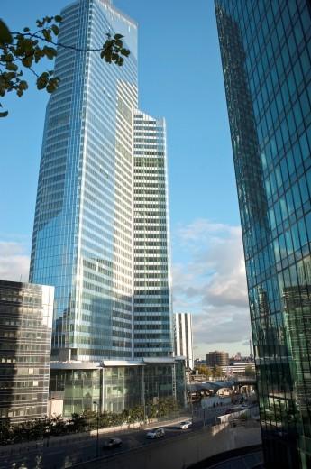 Stock Photo: 1566-796543 Paris, France - Corporate Headquarters Buildings, French Companies, La Défense Commercial Center, ´CB 21´, (1974), (Credit Architect: ABRAMOVITZ, HARISSON et Associés)