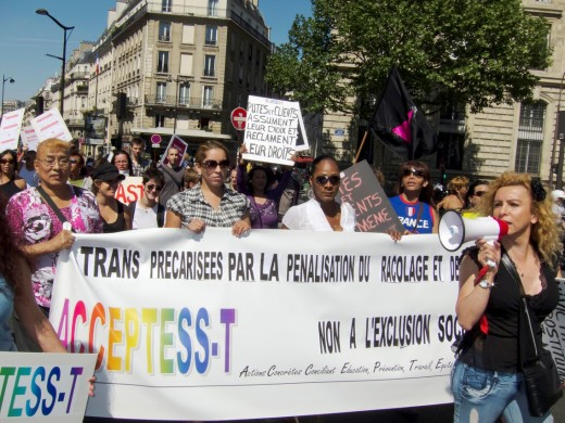 Paris, France, Prostitutes Demonstration Against Law to Punish Clients : Stock Photo