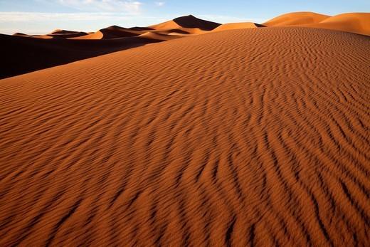 Stock Photo: 1566-797939 sand-dunes, Erg Chegaga, Sahara, Morocco