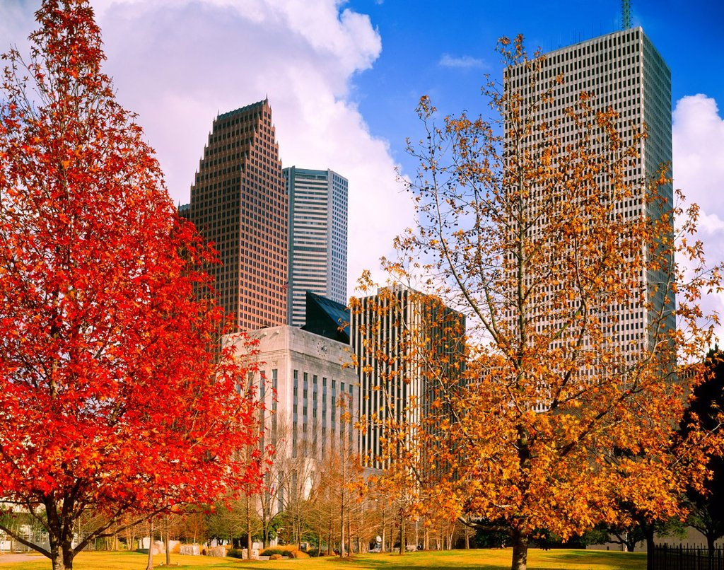 Sam Houston Park, Historic, Downtown, Houston, Texas, USA, Texans, Sam Houston, Bagby, Texas Independence : Stock Photo