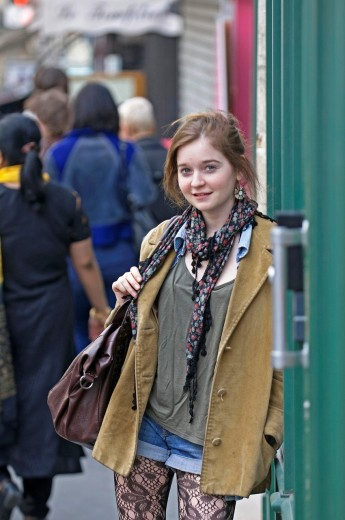Stock Photo: 1566-803649 Paris Street Style / Marie / Drama Student / 19