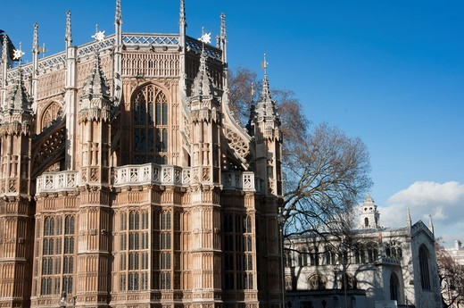 Stock Photo: 1566-803849 Exterior view of Westminster Abbey´s Henry VII lady chapel  London, England