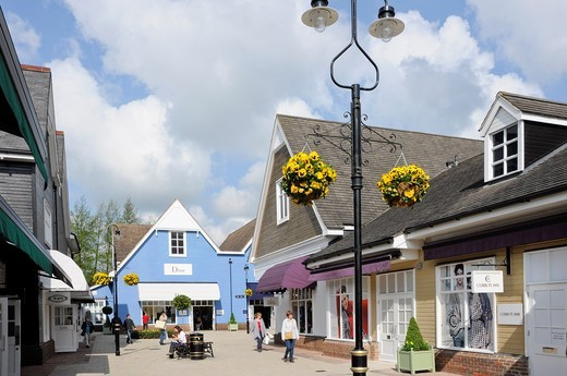 Stock Photo: 1566-803963 Bicester Village, claimed to be the leading Designer outlet shopping destination in Europe, visited annually by more than 3 million customers from all over the world