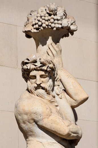 Stock Photo: 1566-803998 Statue Detail at St Georges Hall, Liverpool, Merseyside, England