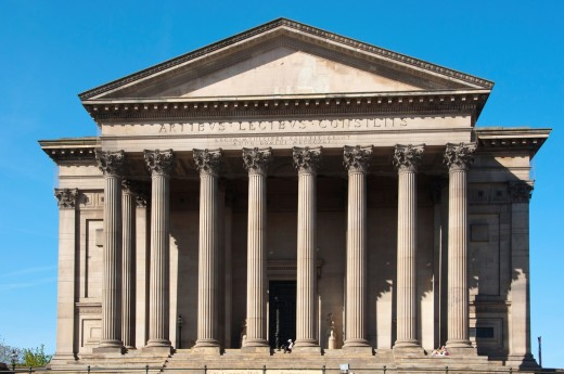 Stock Photo: 1566-804074 Saint Georges Hall designed by Charles Cockerell Liverpool England UK