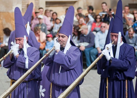Stock Photo: 1566-804499 Morning Good Friday or Holy Friday Easter procession through the streets of Murcia, City of Murcia, South Eastern Spain, Europe