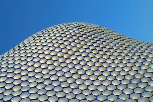 Stock Photo: 1566-804568 Detail of the Selfridges Building exterior, Birmingham, England, designed by the Future Systems architectural practice