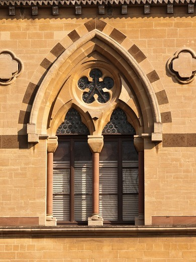 Stock Photo: 1566-804583 Ornate Venetian style window, Oxford University natural history museum, Oxford, UK