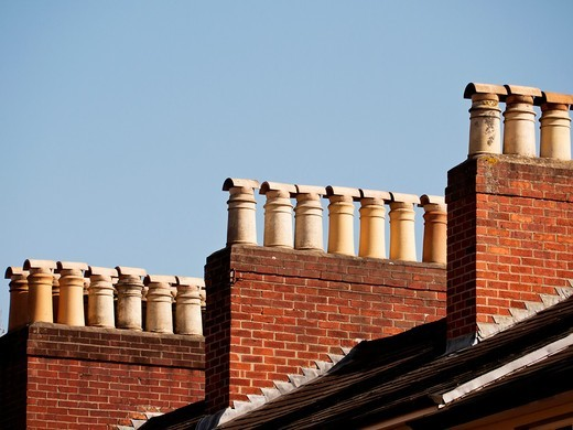 Chimney stacks, Oxford, UK : Stock Photo