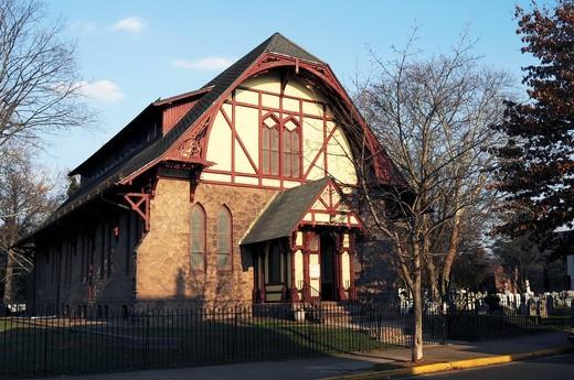 St James Parish House- Bristol,Bucks County, Pennsylvania,USA,North America,US : Stock Photo