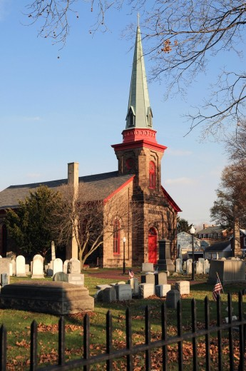 Stock Photo: 1566-805002 St James Episcopal Church,founded 1712- Bristol,Bucks County, Pennsylvania,USA,North America