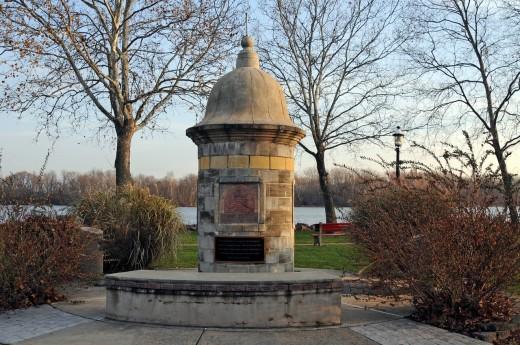 Monument to Spanish Garitas,Bristol, Bucks County, Pennsylvania,USA,North America, : Stock Photo