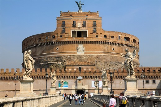 Italy, Lazio, Rome, Castel Sant´Angelo : Stock Photo