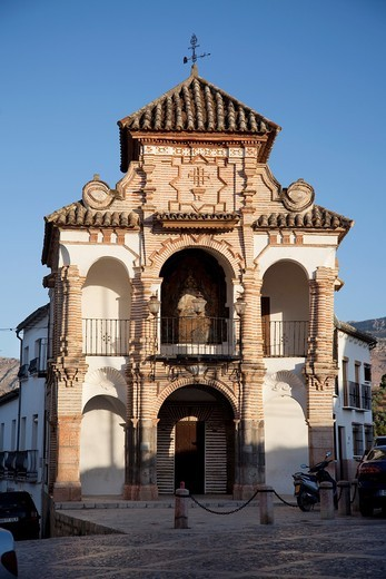 Stock Photo: 1566-805649 Tribune chapel of the Virgen del Socorro 1715 in the square Portichuelo, Antequera, Andalusia, Spain