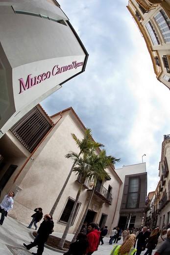 Carmen Thyssen Museum Malaga  Malaga, Andalusia, Spain : Stock Photo