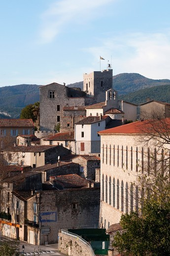 Medieval village Laroque near Ganges, Herault, Southern France : Stock Photo