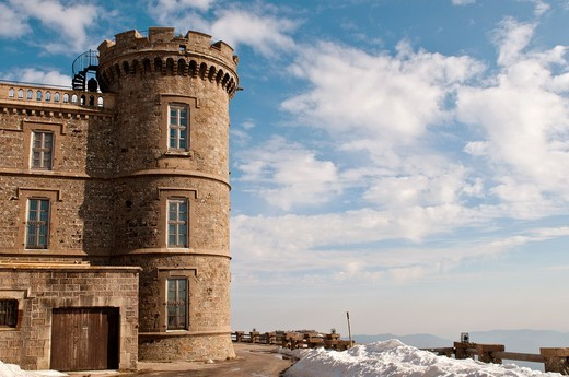 Stock Photo: 1566-807200 Mont Aigoual meteorological observatory, Gard, Languedoc, France