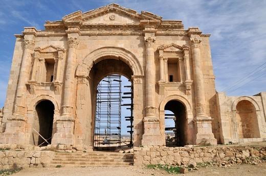 Stock Photo: 1566-808140 Roman Odeon ruins in Amman, Jordan