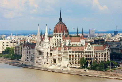 National Assembly building in Budapest, Hungary : Stock Photo