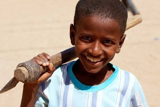 Portrait of a Sudanese boy : Stock Photo