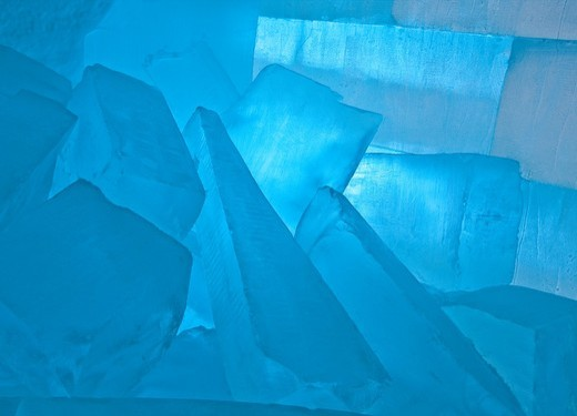Large ice blocks used for building, sculptures and misc  Jukkasjarvi, Sweden : Stock Photo
