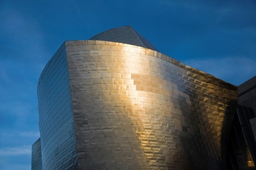 Detail view of Guggenheim Museum, Bilbao, Vizcaya, Basque Country, Spain, Europe : Stock Photo