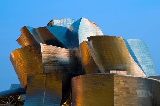 Detail view of Guggenheim Museum, Bilbao, Vizcaya, Basque Country, Spain, Europe : Stock Photo