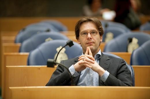 Member of Dutch Parliament, Mr. Ronald van Raak : Stock Photo