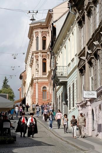 Stock Photo: 1566-812491 Croatia, Zagreb, Tkalciceva street