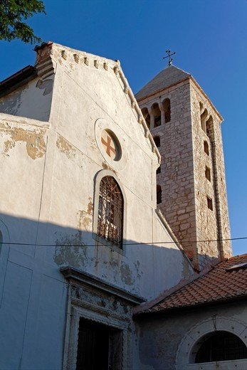 St Andrew s Church Crkva svetog Andrije in Historic Town of Rab Croatia : Stock Photo