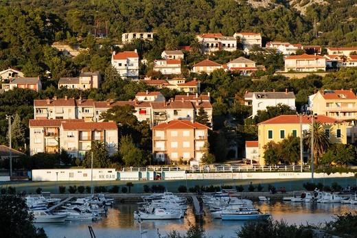 Harbor in Rab Town, Croatia : Stock Photo