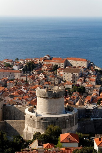 Fort Minceta, city Wall of Dubrovnik, UNESCO, Croatia : Stock Photo