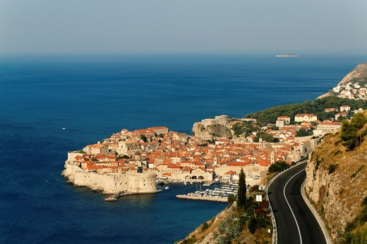 Morning over Dubrovnik, one of the most popular tourist destinations on the Adriatic, Croatia, UNESCO : Stock Photo