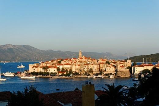 Korcula Town at Korcula Island, Croatia : Stock Photo