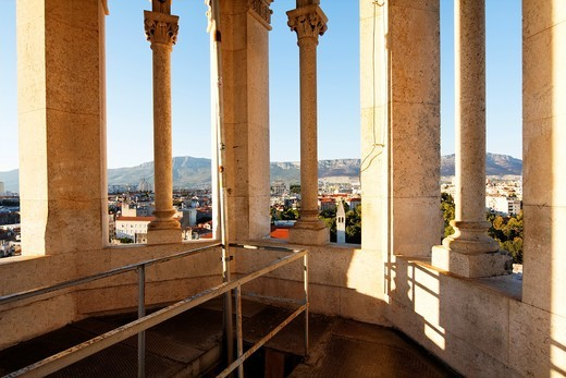 Stock Photo: 1566-812797 View over Split from the St Dominus Cathedral, Croatia, Europe
