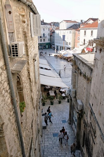 Stock Photo: 1566-812918 National Square, from Iron Gate, Split, Croatia