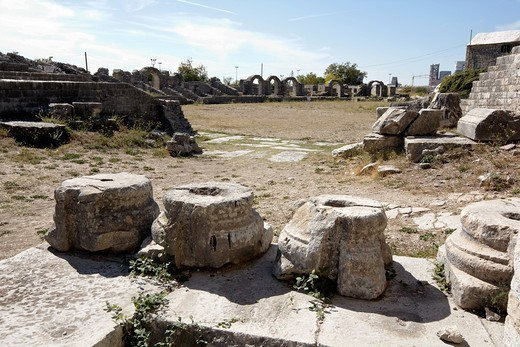 Ruins of ancient Amphitheater, Salona, Croatia, Europe : Stock Photo