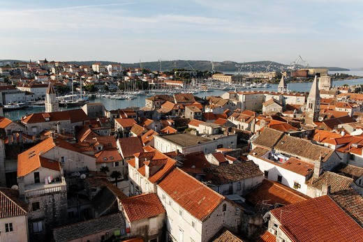 Stock Photo: 1566-813021 Trogir skyline, UNESCO, Dalmatia, Croatia, Europe